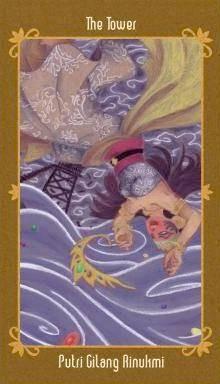 Javanese Folktales Tarot - XVI La Maison Dieu