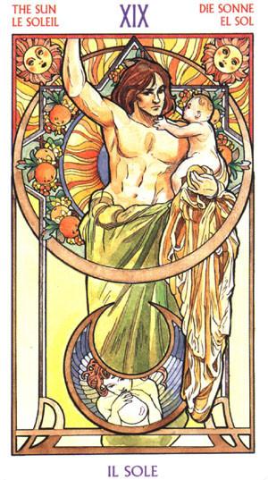 XIX Le Soleil - Le tarot Art Nouveau