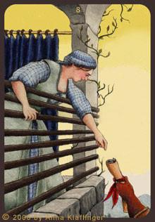 8 de Bâtons - Le tarot d'Anna K.