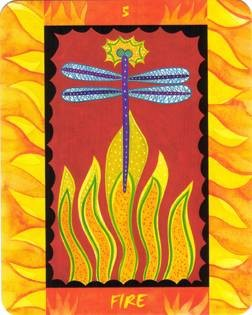 5 de Feu - Le Tarot des Quatre Éléments