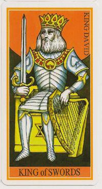 Roi d'Épées - Le tarot de la Roue de Dame Fortune