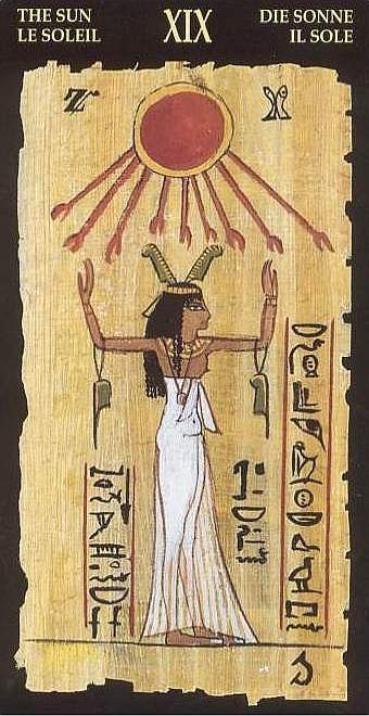 XIX Le Soleil - Le tarot Égyptien