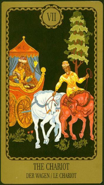 VII Le Chariot - Le tarot Egorov