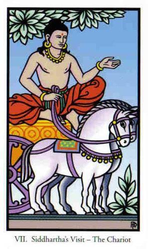 VII Le Chariot - Le tarot de Bouddha