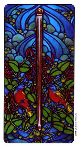 As de Bâtons - Le tarot Art Nouveau de Myers