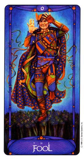 Le Fou - Le tarot Art Nouveau de Myers