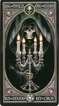 Gothic Tarot - Roi de Deniers