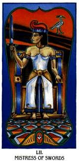 Ibis Tarot - Reine d'Épées