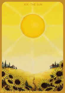 XIX Le Soleil - Le tarot d'Anna K.