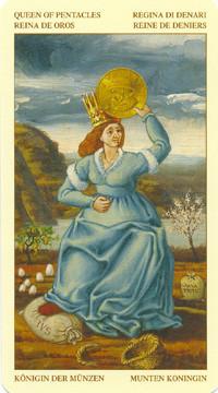 Reine de Deniers - Le tarot Bruegel