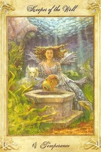 XIV Tempérance - Llewellyn Tarot