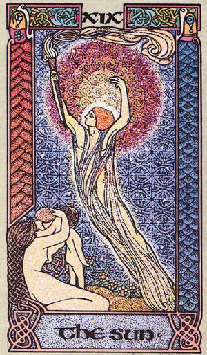 XIX Le Soleil - Le tarot Celtique
