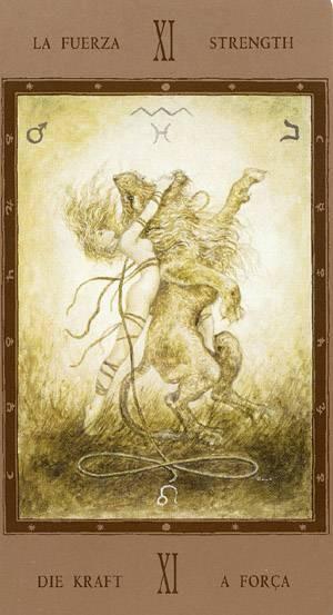 XI La Force - Labyrinth Tarot