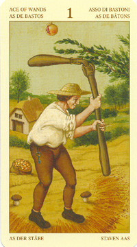 As de Bâtons - Le tarot Bruegel