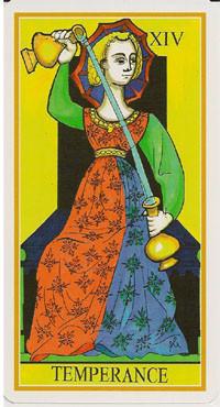 XIV Tempérance - Le tarot de la Roue de Dame Fortune