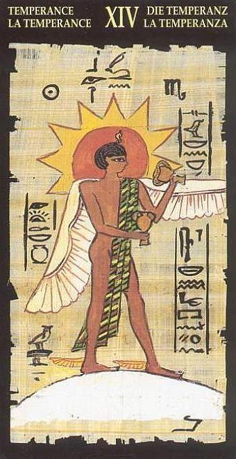 XIV Tempérance - Le tarot Égyptien