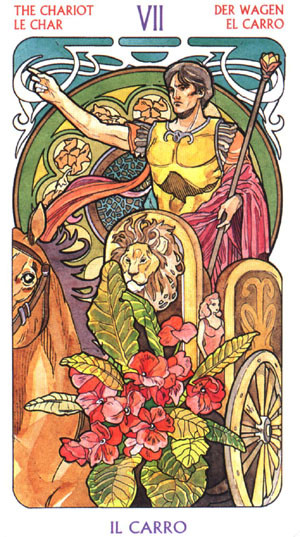 VII Le Chariot - Le tarot Art Nouveau