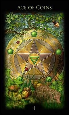 As de Deniers - Legacy of the Divine Tarot
