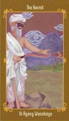 Javanese Folktales Tarot - IX L'Hermite