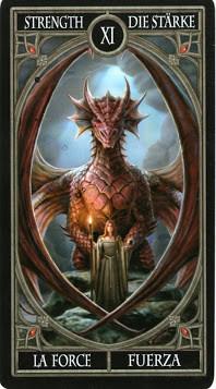 Gothic Tarot - XI La Force
