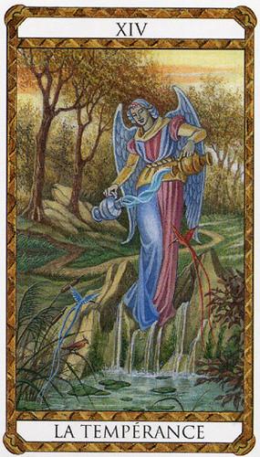 XIV Tempérance - Le tarot d'Ambre