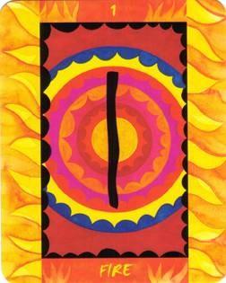 As de Feu - Le Tarot des Quatre Éléments