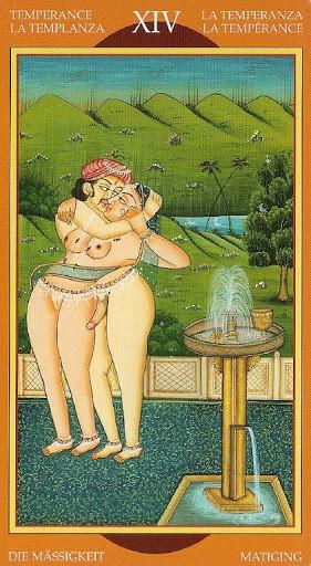 Kamasutra Tarot - Érotique - XIV Tempérance