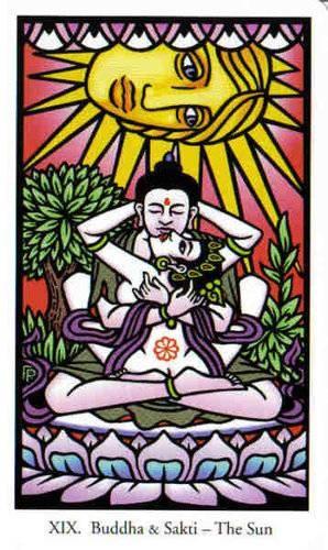 XIX Le Soleil - Le tarot de Bouddha