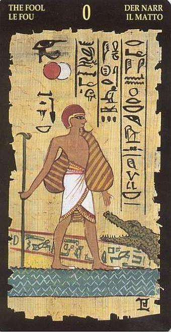 Le Fou - Le tarot Égyptien