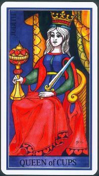 Reine de Coupes - Le tarot de la Roue de Dame Fortune