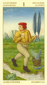 As d'Épées - Le tarot Bruegel