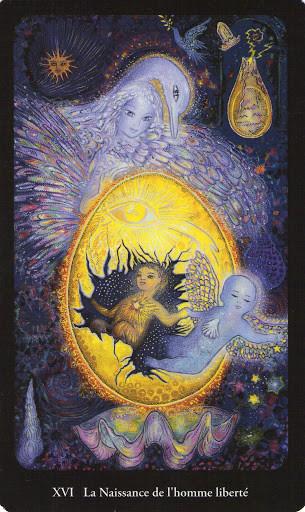 XVI La Maison Dieu - Tarot de l'Ange Liberté