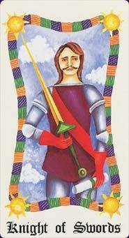 Chevalier d'Épées - Le Tarot Fenton-Bale