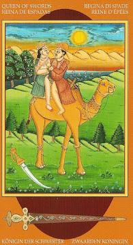 Kamasutra Tarot - Érotique - Reine d'Épées