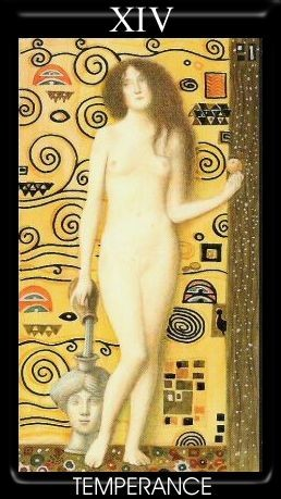 XIV Tempérance - Golden Tarot of Klimt