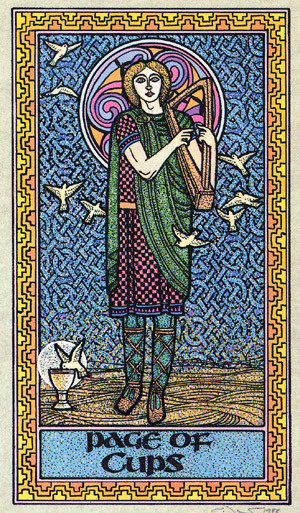 Page de Coupes - Le tarot Celtique