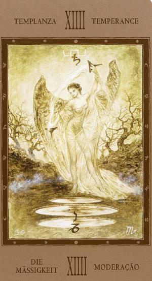 XIV Tempérance - Labyrinth Tarot