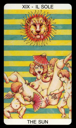 Tarot érotique du jardin de Priape - Érotique - XIX Le Soleil