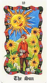 XIX Le Soleil - Le Tarot Fenton-Bale