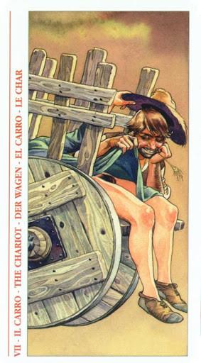 Decameron Tarot - Érotique - VII Le Chariot