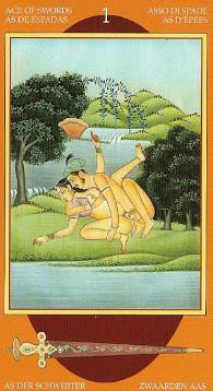 Kamasutra Tarot - Érotique - As d'Épées