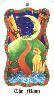 XVIII La Lune - Le tarot Fenton Bale
