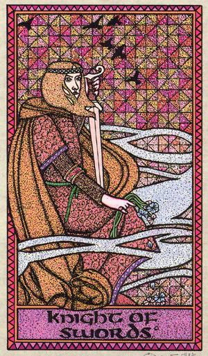 Chevalier d'Épées - Le tarot Celtique