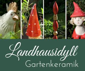 Banner Landhausidyll-Gartenkeramik