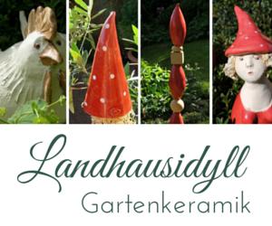 Landhausidyll-Gartenkeramik-Banner 400 x 50