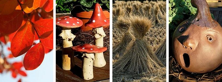 Gartenkeramik für den Herbst