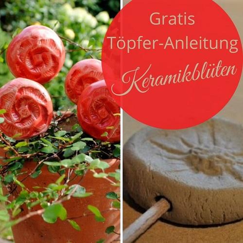 Keramikblüten Töpferanleitung