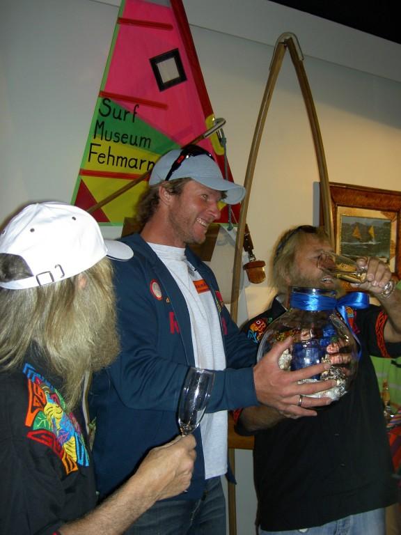 Björn Dunkerbeck ist begeistert von dem Museum  2007