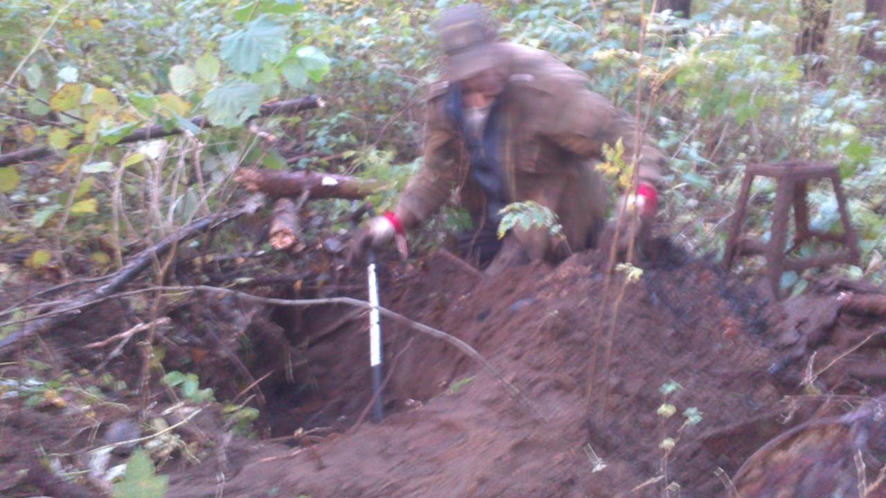 Digging in process