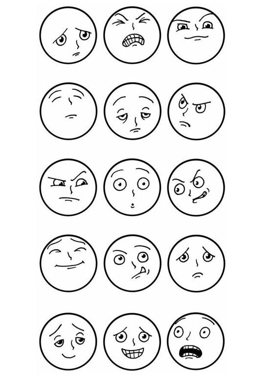 Картинки с эмоциями для детей распечатать